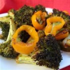Roasted Broccoli - This side dish combines broccoli and bell pepper seasoned with Montreal steak seasoning, chili powder, and garlic powder.