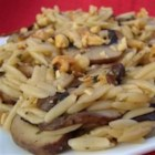 Orzo with Mushrooms and Walnuts - This recipe makes quite a bit.  Everyone I've prepared it for loves it.  You can easily cut the recipe in half.