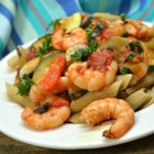Shrimp Primavera - With sliced zucchini, yellow squash, bell peppers, and mushrooms, this pasta and shrimp dish takes advantage of summer's vegetable bounty.