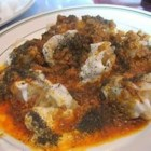 Afghan Beef Raviolis (Mantwo) - Popular at a well-known Afghan restaurant nearby, this dish uses wontons to create delicious beef-, bean- and spice-filled raviolis with an Afghani twist.