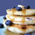 Todd's Famous Blueberry Pancakes - Simple but delicious blueberry pancakes. Fresh or frozen blueberries are equally good.