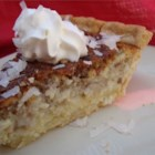 French Coconut Pie - This is very rich and custard-like with coconut and pecans