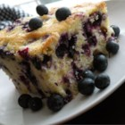 Melt In Your Mouth Blueberry Cake - This is a nice tender cake - one of my Mom's specialties from years ago.  It is a great cake to take along to a picnic.