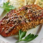 Cedar Plank Salmon - Cedar plank salmon can be baked in the oven or barbequed on the grill with this easy recipe.