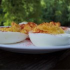 Sell Your Soul to the Devil Eggs - If you like your deviled eggs sweet and tangy, this one is for you. A hint of onion and garlic add savory flavors.