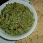 Lite Brocamole -  Wow, this is different. Like guacamole but with steamed broccoli and avocado. And all the usuals  - onion, lime juice, hot pepper sauce and cilantro. Mash everything together and dip to your heart 's content.