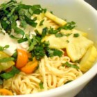 Linguine with Summer Squash, Tomatoes, and Basil - This summer pasta dish is made with fresh linguine tossed with zucchini, yellow squash, tomatoes, and ricotta cheese.