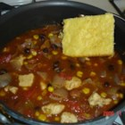 Fifteen Minute Chicken Chili - The foods in this easy recipe are powerhouses of nutrition. Why this recipe is good for you: High antioxidants in tomatoes, corn and beans; High fiber in beans; Low in fat (20% of calories from fat); Beans help suppress blood sugar rises and may help combat diabetes and heart disease.