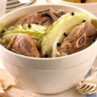 Farikal - This is a popular meat dish from Southern Norway. Lamb and cabbage are layered and stewed with peppercorns. Serve with boiled potatoes that have been sprinkled with parsley.