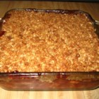 Apple Cranberry Crisp - A great combination of apples and cranberries with a crispy topping. A favorite at Thanksgiving instead of plain cranberries.
