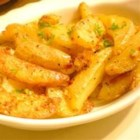 Oven Fresh Seasoned Potato Wedges - Oven fries seasoned with garlic powder and onion powder will go great with your favorite burgers.