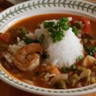 Shrimp and Okra Gumbo - Okra, shrimp, and a variety of sauteed vegetables are used to create a thick stew, even without the dark roux found in traditional gumbo recipes.