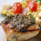 Grilled Halibut with Cilantro Garlic Butter - Delicious! My husband absolutely loves this recipe! Fish is simply seasoned with lime juice then served with a cilantro lime garlic sauce. Serve over a bed of greens with a nice loaf of bread for a complete meal.