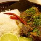 Azalina's Mint Curry - This flavorful curry is full of garlic, ginger, star anise, cardamom, turmeric, mint, and other aromatic herbs and spices. Tender chunks of chicken are surrounded by a rich sauce thickened with coconut milk and spiced with red chilies.