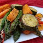 Roasted Vegetable Medley - This colorful dish has the perfect blend of sweet and savory. It is simple to prepare and can be served as a side dish, salad, or light meal. Feel free to substitute whatever veggies and herbs you have on hand.