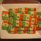 Irish Flag Cookies - Crisp sugar cookies frosted to look like the flag of the Irish Republic.