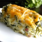 Sally's Spinach Mashed Potatoes - Spinach is mixed with creamy mashed potatoes, topped with cheese, and baked.