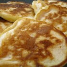 Golden Penny Pancakes - Small pancakes with cheddar cheese. Good with maple syrup or fruit, or on their own.