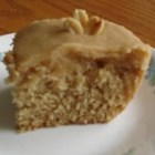 Peanut Butter Cake I - Get nostalgic with this recipe for peanut butter cake featuring a simple frosting.