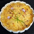 Quiche Lorraine II - Bacon, eggs, cheese and onions. It's a delicious way to start a meal!