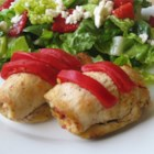 Feta and Sun-Dried Tomato Stuffed Chicken - This is an easy stuffed chicken breast that is absolutely yummy. I listed the olives as optional because I do not like olives, but I have made it with them for my husband (who loves olives) and he said it was very good.  This dish goes really nicely with couscous and a Greek-style salad.