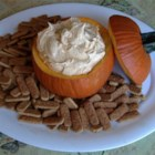 Pumpkin Fluff Dip  - This is a very creamy and yummy vanilla pumpkin dip that is served with graham crackers.  I like the cinnamon graham crackers best, but you can decide for yourself.