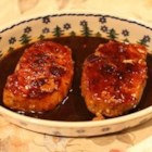 Orange Pork - Boneless pork chops are browned, then covered with a thickened orange sauce.