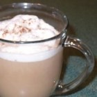Chai Latte - A hot chai tea drink with goats milk and a touch of sugar. Garnish with a sprinkle of cinnamon or cardamom.