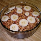Peanut Salad - Brown sugar custard layered with bananas and peanuts -- homemade goodness.