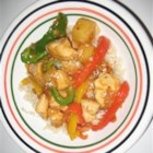 Teriyaki and Pineapple Chicken - Bell peppers, pineapple, mushrooms, and chicken combine to make a hearty main dish that also tastes great as leftovers.