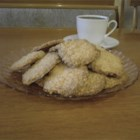 Oatmeal Coconut Thin Crisps - These are an adaptation of a great recipe I found in a cookbook, they are also great dipped in melted chocolate