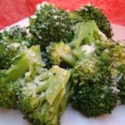 Broccoli with Poppy Seed Butter and Parmesan Cheese - Steamed broccoli is topped with a lightly seasoned butter and fresh Parmesan cheese.