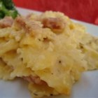 Ham and Cheese Bowties - Bow tie pasta and ham baked in a Colby cheese sauce.