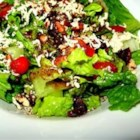 Blue Cheese and Dried Cranberry Tossed Salad - This salad is a tried and true crowd pleaser. A basic romaine salad is dressed up with toasted pecans, cranberries, and crumbled blue cheese and tossed with balsamic vinaigrette to serve. Make this an easy meal by adding grilled chicken and serving with a crusty baguette.
