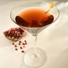 Pomegranitini - A twist on the cosmopolitan, made with pomegranate juice, vodka, and orange liqueur.