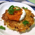 Mexican Potato Pancakes - These jalapeno-spiked potato pancakes are served with a Mexican-style tomato sauce.