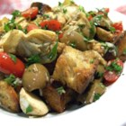 Panzanella Salad - This is a rustic, Italian salad made with day old, crusty bread, fresh tomatoes, and mozzarella cheese!