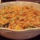 Vernita's Broccoli Casserole - Broccoli, cream of mushroom soup, and instant rice come together in this quick broccoli-rice bake.