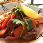 Lamb Tagine - This is a traditional Moroccan lamb tagine simmered in numerous spices.  Don't let the long ingredients list put you off.  If you are missing one or two the dish will still turn out fine.