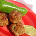 Thai Chicken Balls - Ground chicken mixed with green onion, bread crumbs, coriander, chili sauce and lemon juice for a uniquely Thai flavor.
