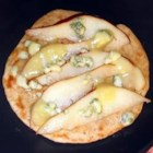 Gorgonzola Bread - French bread topped with Gorgonzola cheese, sliced pears and walnut pieces makes an elegant appetizer without a lot of work.