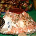 E-Z Volcano Shrimp Dip - If available, use a cone-shaped bowl as a mold for this dip. When inverted, the chilled dip will come out of the bowl resembling a mountain. The Lava Sauce dripping down the sides of the mold creates the appearance of an erupting volcano. Use more horseradish for a hotter lava! It's a perfect appetizer for luaus.