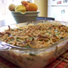 Favorite Green Bean Casserole - Frozen green beans, colorful pimentos and French-fried onions are baked to tender perfection in this wonderful, easy to make casserole.