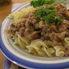 Ground Beef Stroganoff - This fast and easy version of the dish calls for mustard and mayonnaise along with the usual mushrooms and sour cream.