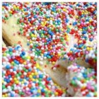 Fairy Bread - This is a great Aussie kids party favorite, we were all brought up on it.  Bread is spread with margarine and topped with colored sprinkles, or if you are in Australia, 100's and 1000's. It's a loved recipe.