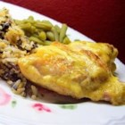 Dijonnaise Chicken - This is a baked chicken breast with a great mustard taste that you can bake alone or in a casserole dish with prepared wild rice.