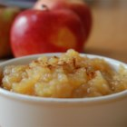 Sarah's Applesauce - Make your own applesauce at home with just apples, sugar, cinnamon, and this recipe.