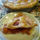 Peach-a-Berry Pie - This is a great way to use up fresh peaches that are ripening too fast. The berries add a hint of tart to the sweet peaches. Easy to make and looks great.