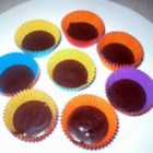Peanut Butter Cups - Peanut butter coated in semisweet chocolate -- made in a mini muffin tin!