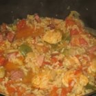 Jambalaya With Shrimp - This Creole rice dish is a quick, lower fat version of an old favorite. I've had this recipe for many years, but have modified it for my family's tastes.  You can do the same.  There's a lot of room for creativity here.